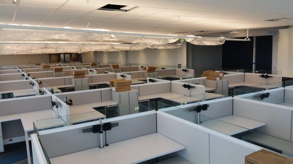 7-13 Comcast Inova 5th floor furniture installation
