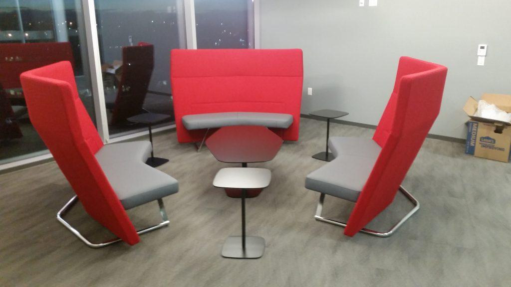 Comcast Inova 5th floor furniture installation