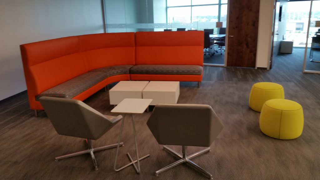 Comcast Inova 1st floor furniture installation