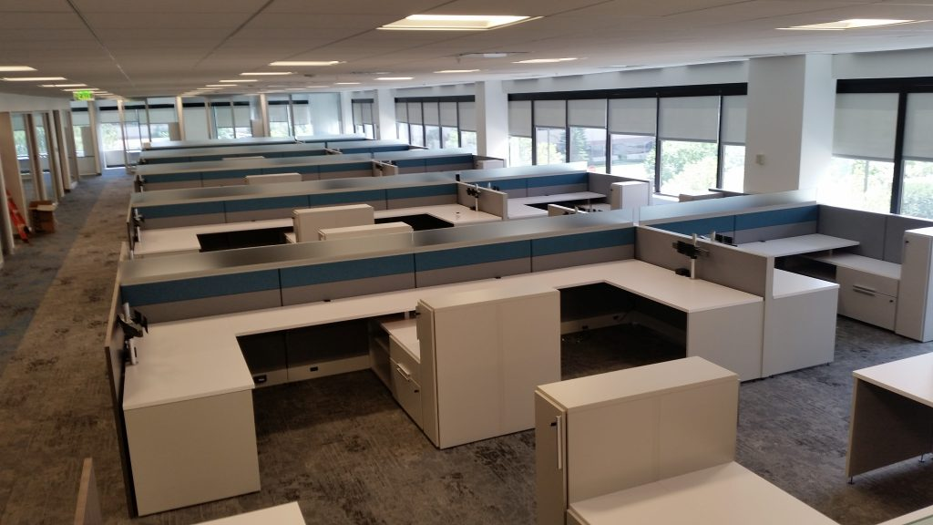 Comcast Panorama Office Furniture Installation Englewood